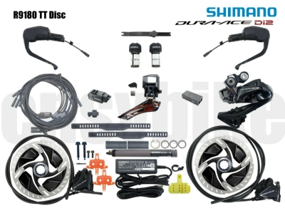 Shimano Dura Ace R9180 Di2 Hydraulic Disc Brakes Groupset for TT/Triathlon Bike