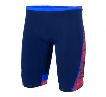 ZONE3 MEN'S PRISM JAMMERS - NAVY  RED - SWIMWEAR
